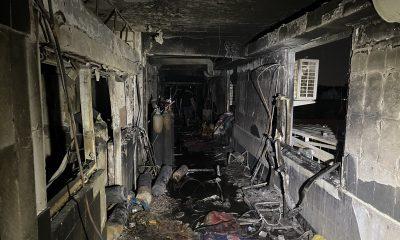 Covid hospital fire iraq