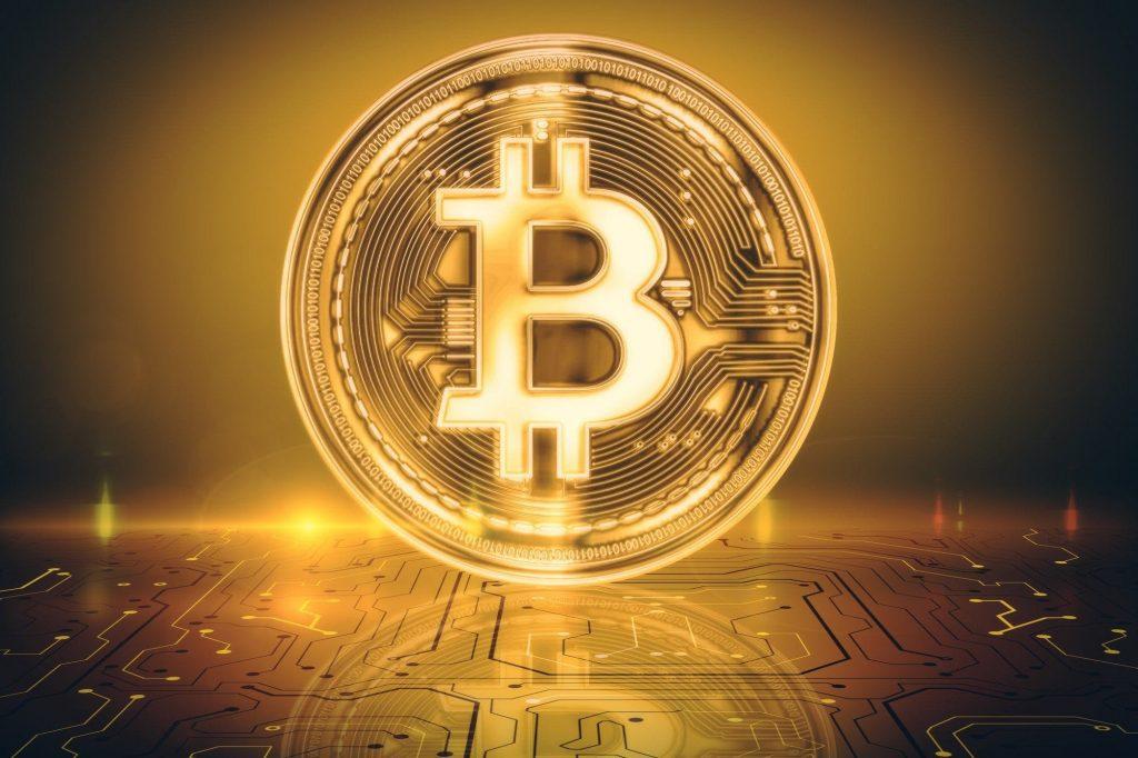 Golden bitcoin fund logo