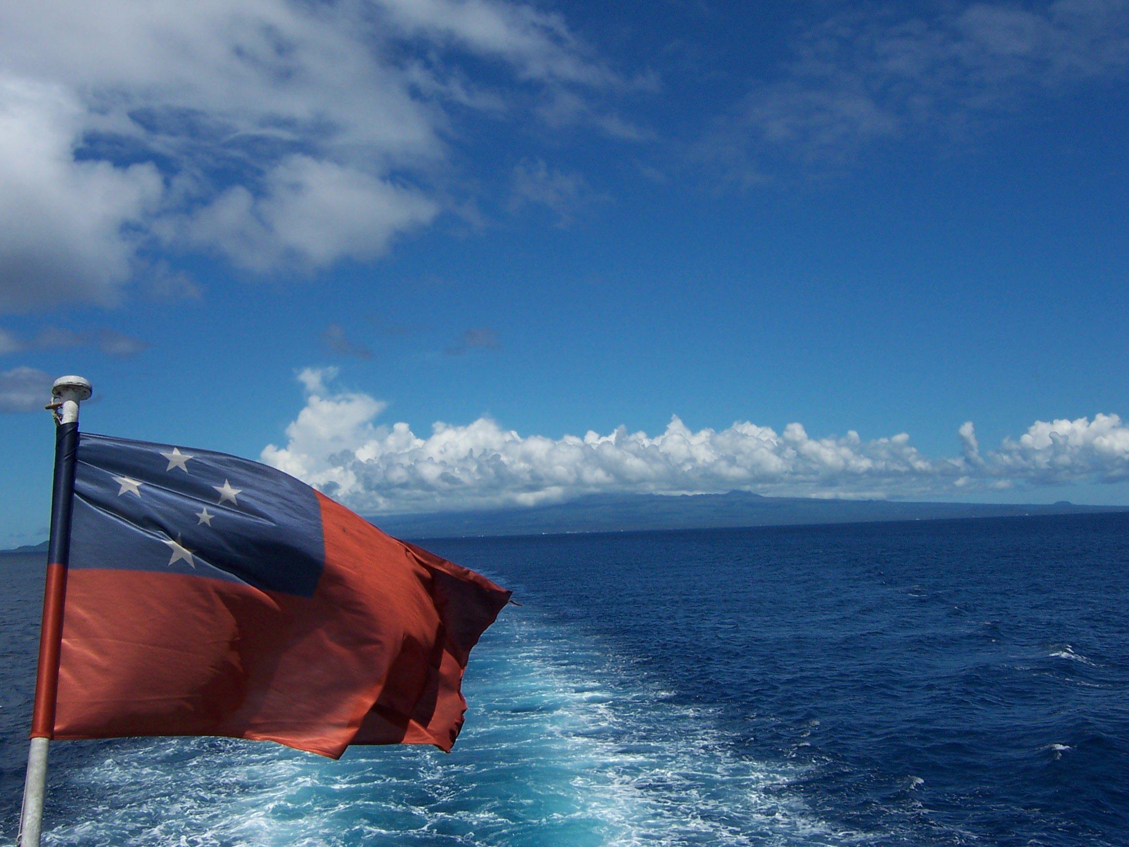 The Samoan flag