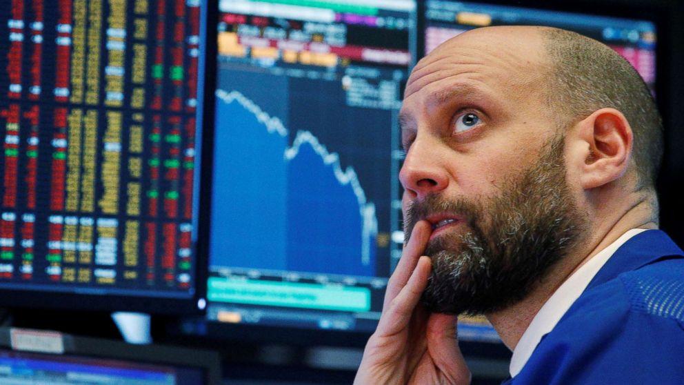 Investor watches markets