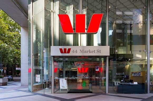 Westpac storefront in Sydney, Australia.