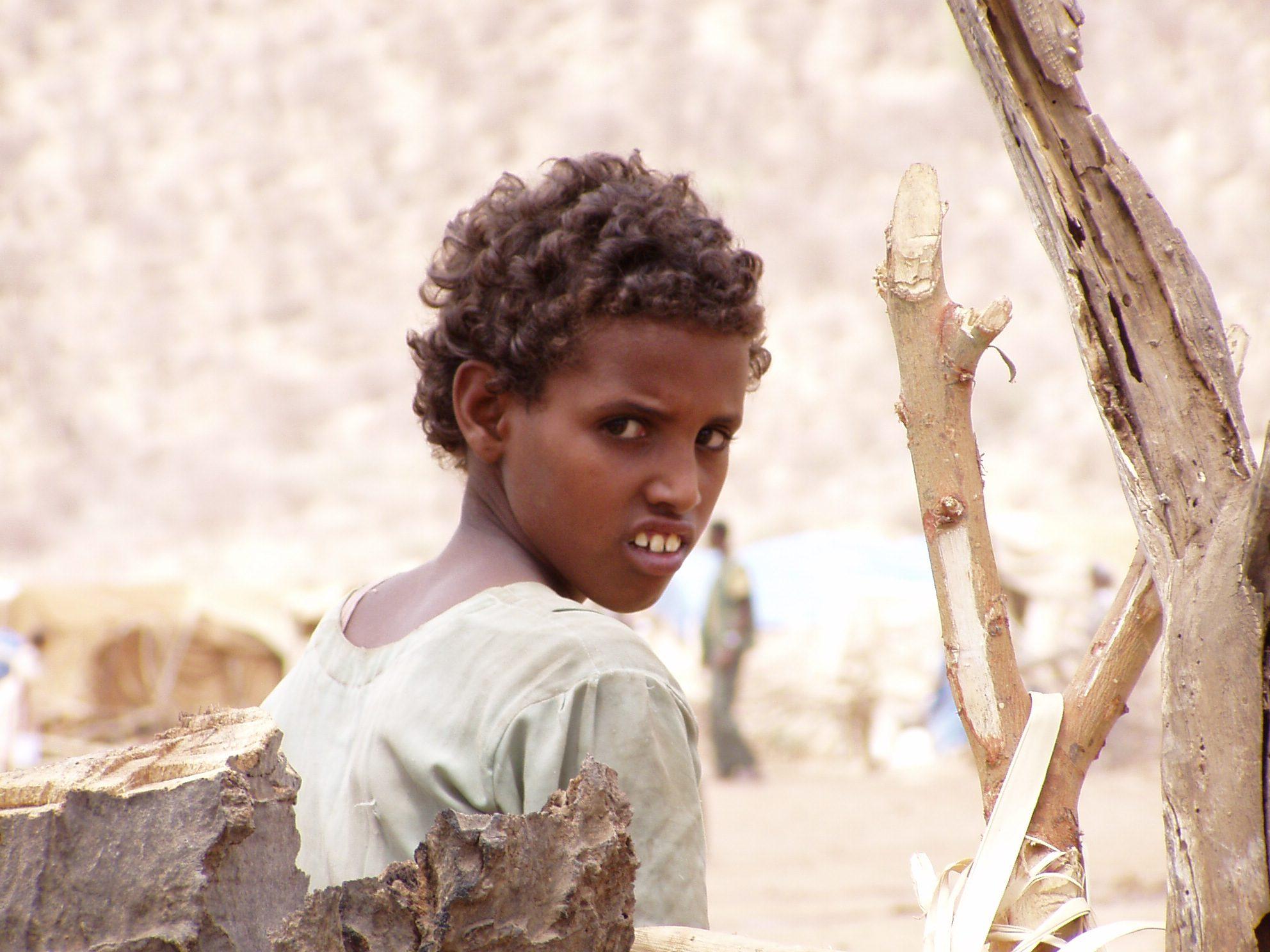 An Eritrean refugee.
