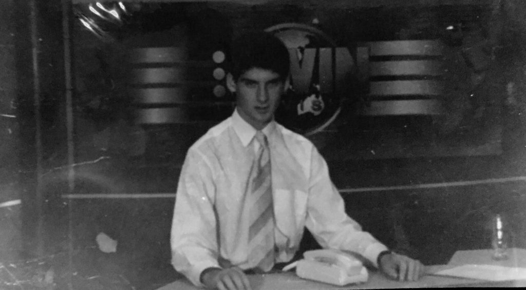 Ahron as a 15 year old at Win News in Ballarat in 1997