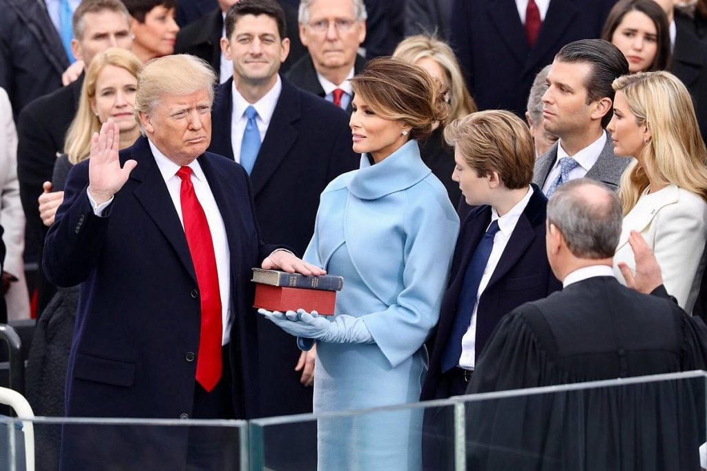 Donald Trump's inauguration as US President