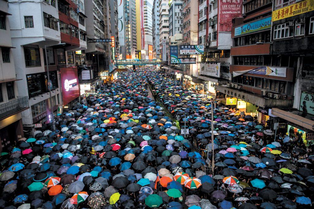 Antigovernment protesters, Hong Kong, August 2019